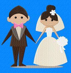 Happy Wedding-2 EmbroiderOcean Design