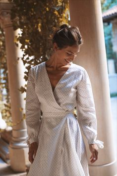 Discover the collections: dresses, skirts, tops, pants and outwear. Wrap Dress, Silk, Summer Dresses, Skirts, Outfits, Shopping, Clothes, Collection, Tops