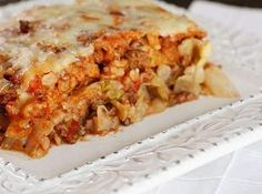STUFFED CABBAGE CASSEROLE Recipe  this is just like stuffed cabbage rolls, but so much easier!!