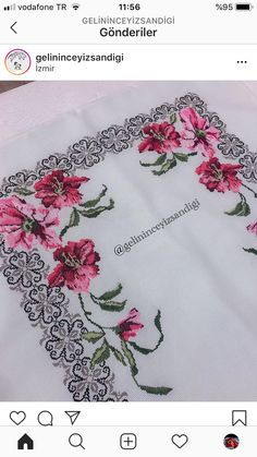 Hobbies And Crafts, Counted Cross Stitches, Napkins, Roses, Embroidery, Cross Stitch