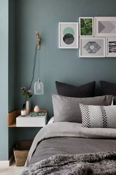 Amazing Scandinavian Bedroom Amazing Scandinavian Bedroom Design 10 Exclusive Bedside Tables for your Master Bedroom Decor. Best Bedroom Colors For Sleep Bedroom Wall Colors, Bedroom Color Schemes, Bedroom Green, Modern Bedroom, Bedroom Ideas, Girls Bedroom, Trendy Bedroom, Bedroom Designs, Bedroom Wall Ideas For Adults