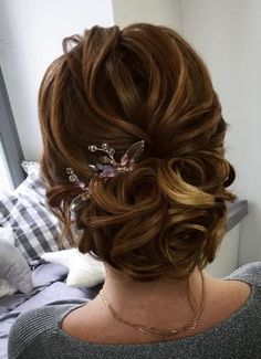 Wedding Hairstyles : Illustration Description Textured wedding updo hairstyle ,messy updo wedding hairstyles ,chignon , messy updo hairstyles ,bridal updo -Read More – Short Updo Wedding, Elegant Wedding Hair, Simple Wedding Hairstyles, Wedding Hair And Makeup, Bride Hairstyles, Updo Hairstyle, Hair Wedding, Hairstyle Wedding, Fancy Hairstyles