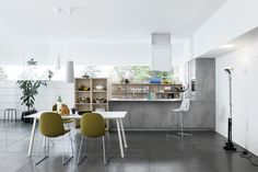 New MILA kitchen by Cesar:sharp and minimalist lines