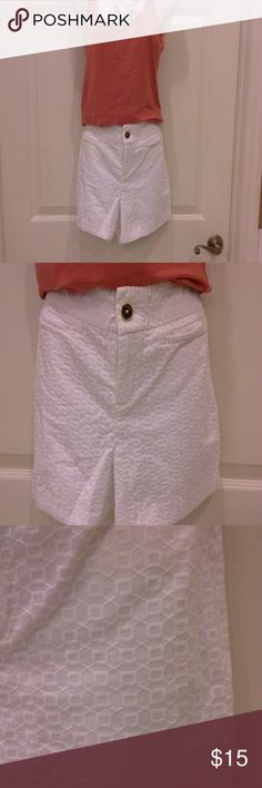 Banana Republic shorts Cute white pattern designed shorts.  In excellent condition.   Reasonable offers considered Banana Republic Shorts