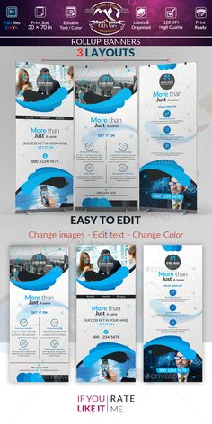 Creative Rollup Stand Banner Display - Template PSD