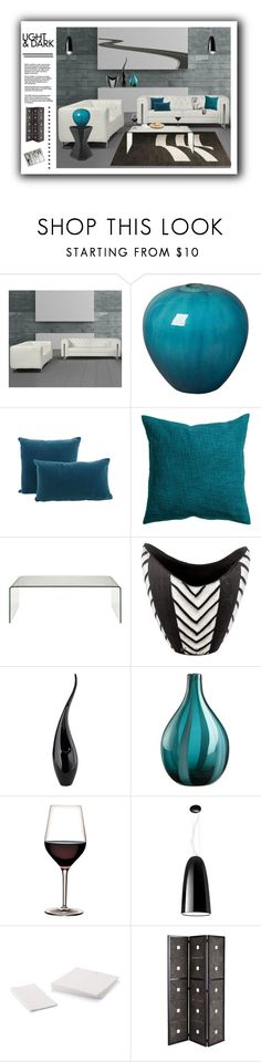 """""""Light & Dark 2"""" by mysfytdesigns ❤ liked on Polyvore featuring interior, interiors, interior design, home, home decor, interior decorating, Emissary, Jayson Home, H&M and Crate and Barrel"""