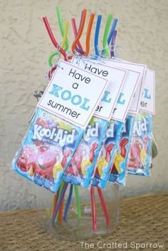 End Of The Year Gifts | Fantastic idea! As an end of the year gift I bought my students beach ... #teachergifts