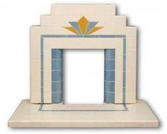 Craddock tiled Art Deco fireplace