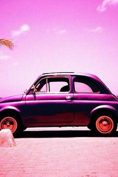 """Fiat 500 alle """"lampados""""? Con questo freddo... ( by  Princess Gingerella  on We Heart It) http://ift.tt/1lxIEna - il cuore caldo del cinquecentista"""