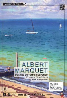 Alber Marquet au Musée d'Art moderne. Affiche                              …