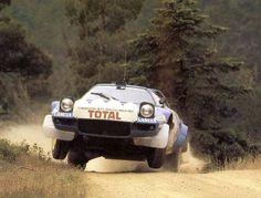 Bernard Darniche, Lancia Stratos, Acropolis Rally, 1980. Top that for massive wowsdome!