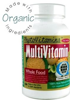Why Choose this Organic Whole Food Multivitamin?  1) PhytoVitamins was one of the first true raw whole food multivitamins and mineral supplements on the market and has been teaching the concept of raw food nutrition since 1995. Probably one of the purest raw organic whole food multivitamin you and your family will ever take;  2) Only certified organic food based ingredients are used to offer you the most pure and concentrated formula;