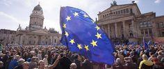 Des milliers de personnes manifestent en faveur de l'Europe à Berlin le 26 mars.