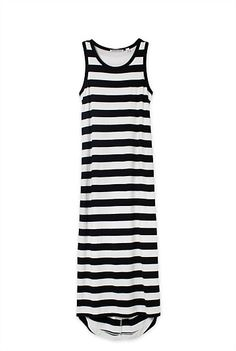 Country Road Twisted Back Stripe Maxi Dress