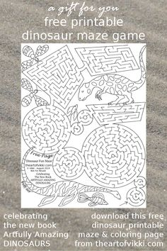 Free Dinosaur Printables Maze And Coloring Page
