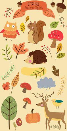 free-cute-animal-autumn-clipart-fptfy-a