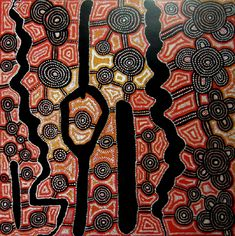 Yala Yala Gibbs Tjungurrayi / Rockhole Site at Tarrparpa 1997  91.5 x 91.5 cm