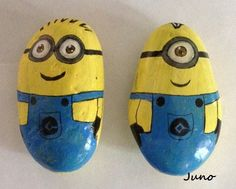 Painted stone Minion | Flickr - Photo Sharing!