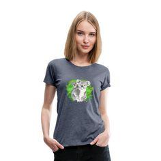 Matroos T-Shirts - Bemanning anker matroos - Vrouwen premium T-shirt grijs gemêleerd T Shirt Designs, T Shirt Women, T Shirts For Women, Commodore Amiga, Doce Banana, Cartoon T Shirts, Viscose Fabric, Pullover, Women Brands