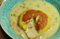 Ravioli Toast als Beilage zur Suppe