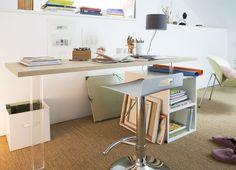 Un bureau créé grâce à une tableau d'aménagement