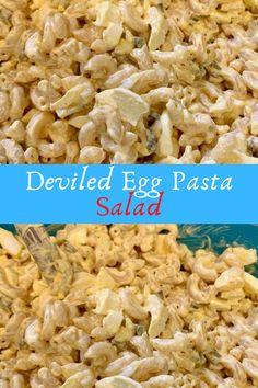 Deviled Egg Pasta Salad #Deviled #Egg #Pasta #Salad