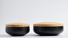 Urushi Box with Wood LidMaker by Fuji Seisakusho.