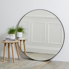NEW The White Company Chiltern Thin Metal Round Circle Mirror Black Home Big Round Mirror, Circular Mirror, Metal Mirror, Black Mirror, Round Mirrors, Mirror Mirror, Circle Mirrors, Giant Mirror, Hallway Mirror