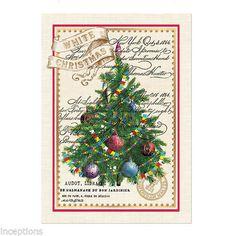 Michel Design Works Cotton Kitchen Tea Towel White Christmas Tree New | eBay