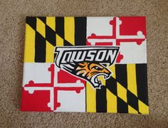 Towson Tigers w/ Maryland Flag Canvas on Etsy, $15.00