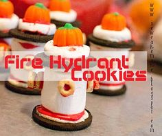 Fire+Hydrant+Cookies+{Fire+Truck+Party+Ideas}