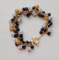#CraftFest Lucky Dice  Beaded Bracelet by BeadedBazaar on Etsy, £7.00