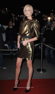 Charlize Theron wearing Lanvin.