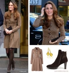 Kate visits Only Connect charity; repeats Orla Kiely Birdie dress | Featured, Kate's Outfit Archive | Kate Middleton Style