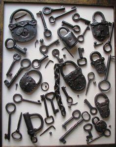 Image detail for -Antique Key and lock Ceramic Art by Dariush Golmohammadi - Antique ...