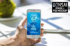 """Premium photorealistic PSD Mockup of the iPhone 6 named """"Bonsai"""". Easy to use because of smart layers. See what's Web Mockup, Mockup Templates, Business Card Mock Up, Business Brochure, Surf, Macbook Wallpaper, Scene Creator, Beauty Packaging, Pencil Illustration"""