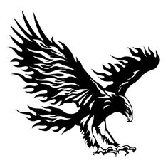 A majestic Eagle Decal Decor. Create a vivid interior with animal wall decals ands stickers. Quality vinyl sticker design - Made in USA. Stencil Patterns, Stencil Art, Stencils, Tattoo Drawings, Body Art Tattoos, Tattoos Pics, Adler Tattoo, Eagle Art, Eagle Tattoos