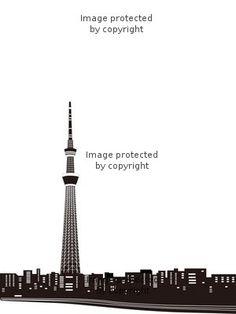 東京スカイツリーシルエット 327180 イラスト素材