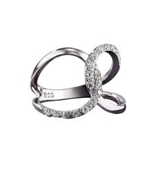 Avon Sterling Silver CZ Infinity Ring sale price $29.99.Sterling Silver Avon rings are high quality fine jewelry at discounted prices. See the Avon ring collection featuring diamonds and semiprecious stones at ThinkBeautyToday.com #AvonSterlingSilver