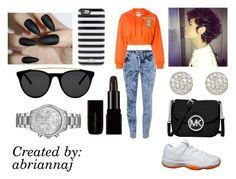 """""""Orange """" by abriannaj ❤ liked on Polyvore featuring ONLY, Moschino, Retrò, MICHAEL Michael Kors, Accessorize, Kate Spade, Smoke & Mirrors and Michael Kors"""