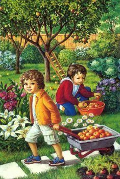 Solve Picking Apples jigsaw puzzle online with 40 pieces Autumn Activities, Preschool Activities, Picture Composition, Country Scenes, Picture Story, Abstract Photography, Children Photography, Storytelling, Art For Kids