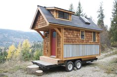 Nelson Tiny Houses | Acorn House 120 Sq. Feet - click link to see video tour.