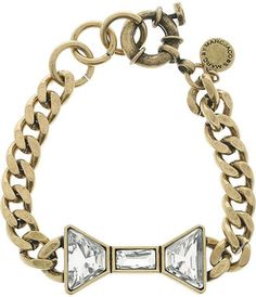 bracelets bracelets bracelets! - ShopStyle: Marc by Marc Jacobs Brass and crystal bow bracelet