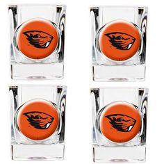 Oregon State Beavers Shot Glasses Set of 4