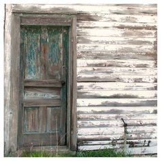Rustic Farm Photo Vintage Farmhouse Door by semisweetstudios