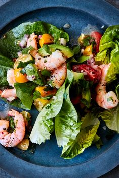 Shrimp and Avocado Salad With Citrus Vinaigrette (Camarones a la Vinagretta) Recipe - NYT Cooking Berry Clafoutis Recipe, Roast Fish, Citrus Vinaigrette, Thing 1, Honey Chicken, Shrimp Salad, Herb Butter, Plum Tomatoes, Roasted Carrots