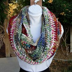 CRAZY INFINITY SCARF Many Colors Large Oversized by MicheleMade
