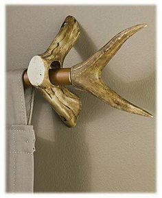 Antler curtain rod enders and holders