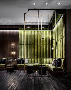 New Bedroom Hotel Style Green Ideas Lounge Design, Design Hotel, Hotel Bedroom Design, Restaurant Interior Design, Hotel Lobby Interior Design, Modern Hotel Lobby, Club Design, Luxury Interior, Hotel Lounge
