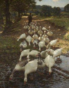 The Watersplash - Henry Herbert La Thangue,   1859–1929 British, English